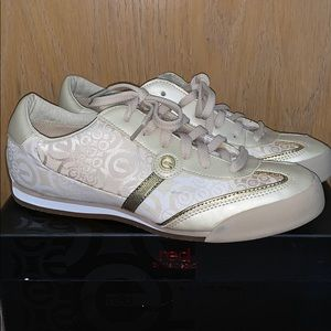 Marc Ecko Gold and Beige Colored Sneakers